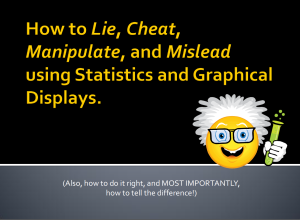 how to lie cheat manipulate using statistics
